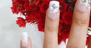 French embellished press on nails   Set of 12 at ₹500/-  With complimentary na