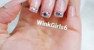 Nude embellished press on nails   Set of 12 at ₹500/-  With complimentary nail