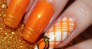 Hello my beauties!!! Today I am doing a pumpkin and plaid design using  A011 Lea