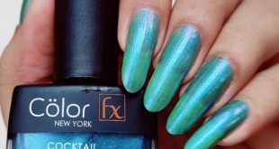 Cocktail Collection - 135 . It is a multi chrome shimmer nail polish that shift