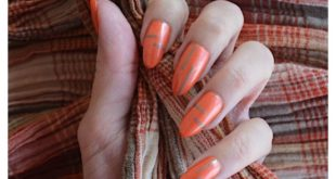Can't remember the last time I painted my nails orange   Polishes used:   Thandi