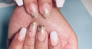 Gold flake ombre