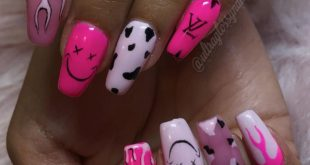 Mani Monday  yes these ARE her real nails and we've been growing them out nicel
