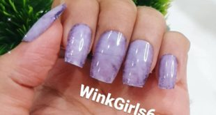Purple marble press on nails   Set of 12 at ₹400/-  With complimentary nail ki